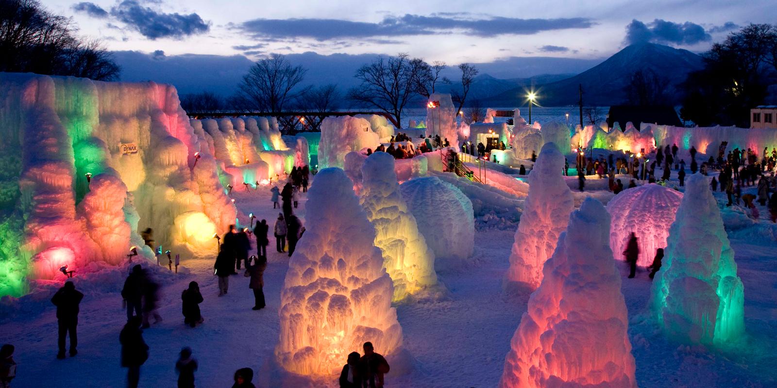 Lihat Keindahan Seni Patung Dari Es Di Sapporo Yuki Matsuri